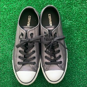 Converse All Star silver leather